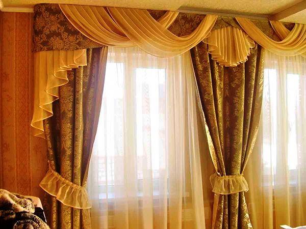 100 вариантов фото новинок штор в гостиную - Вариант 100