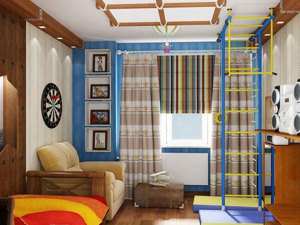 Занавески в комнату подростка мальчика дизайн
