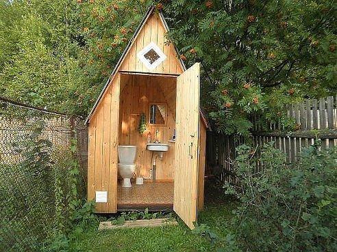 Туалет с умывальником для дачи своими руками